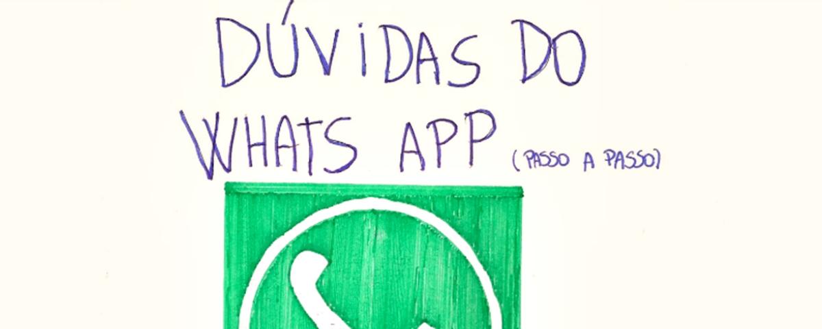 Tem Na Web - Jovem cria manual caseiro para ajudar idosa a usar o WhatsApp