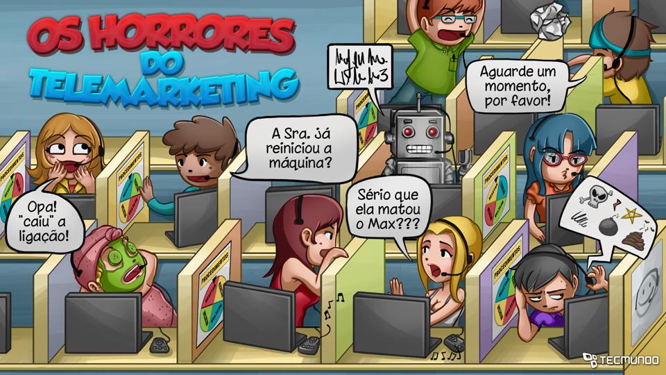 Erro 404: os horrores do telemarketing [ilustração]