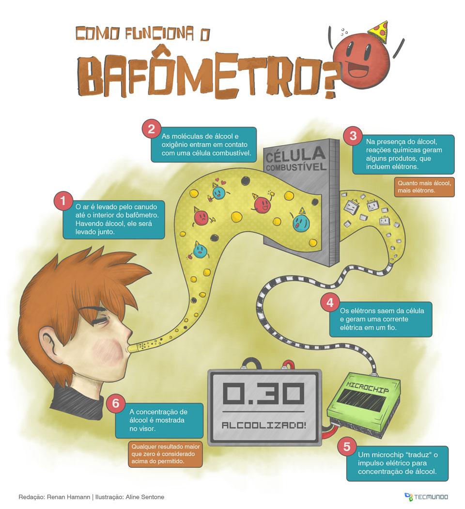 Como funciona o bafômetro? [infográfico]