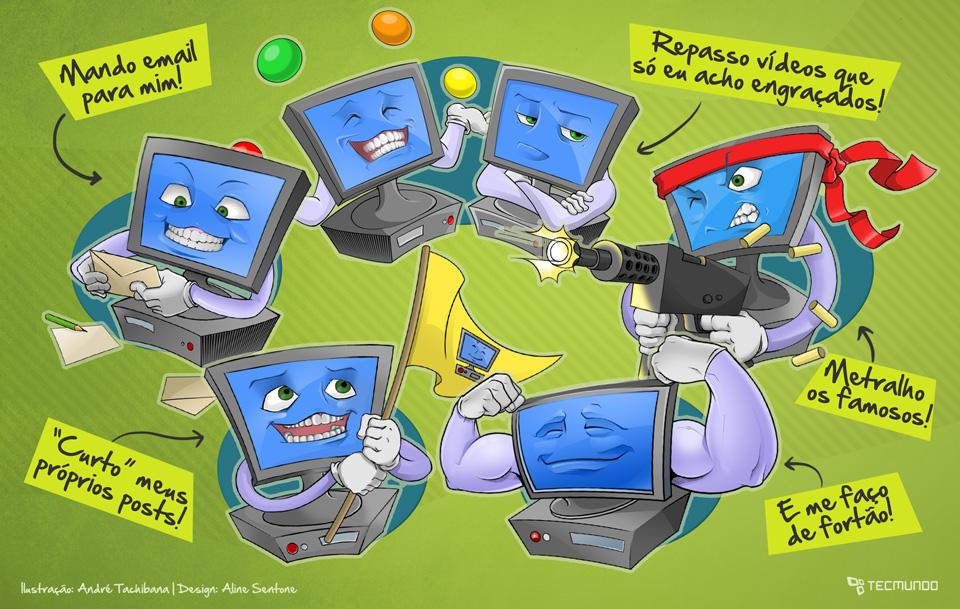 Erro 404: 5 coisas ridículas que fazemos na internet [ilustração]