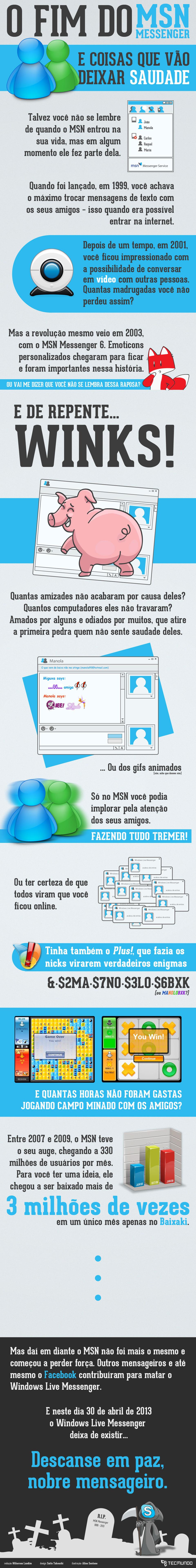 O fim do MSN Messenger: uma era que vai deixar saudade [infográfico]