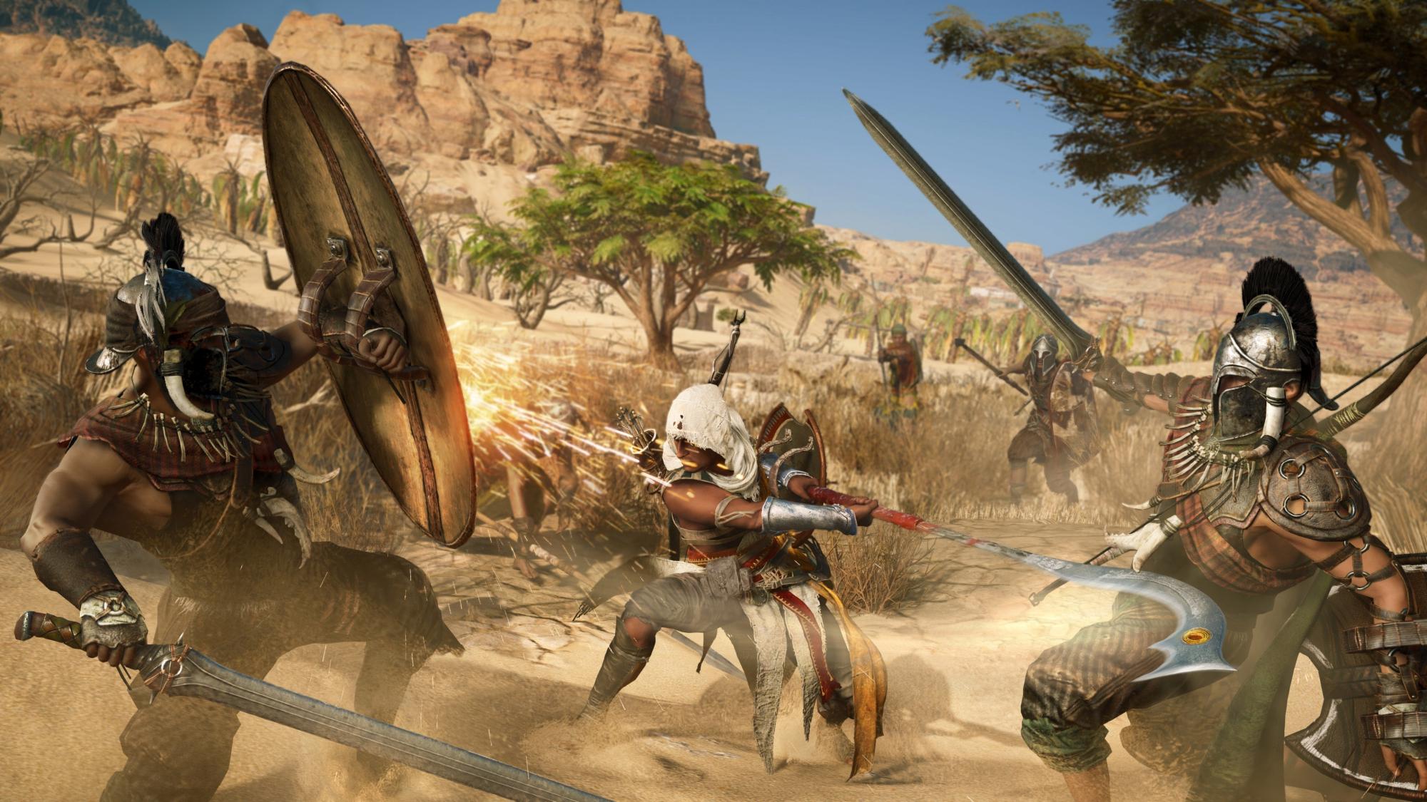 Quase 20 minutos de Assassins's Creed Origins na glória do 4K no Xbox One X