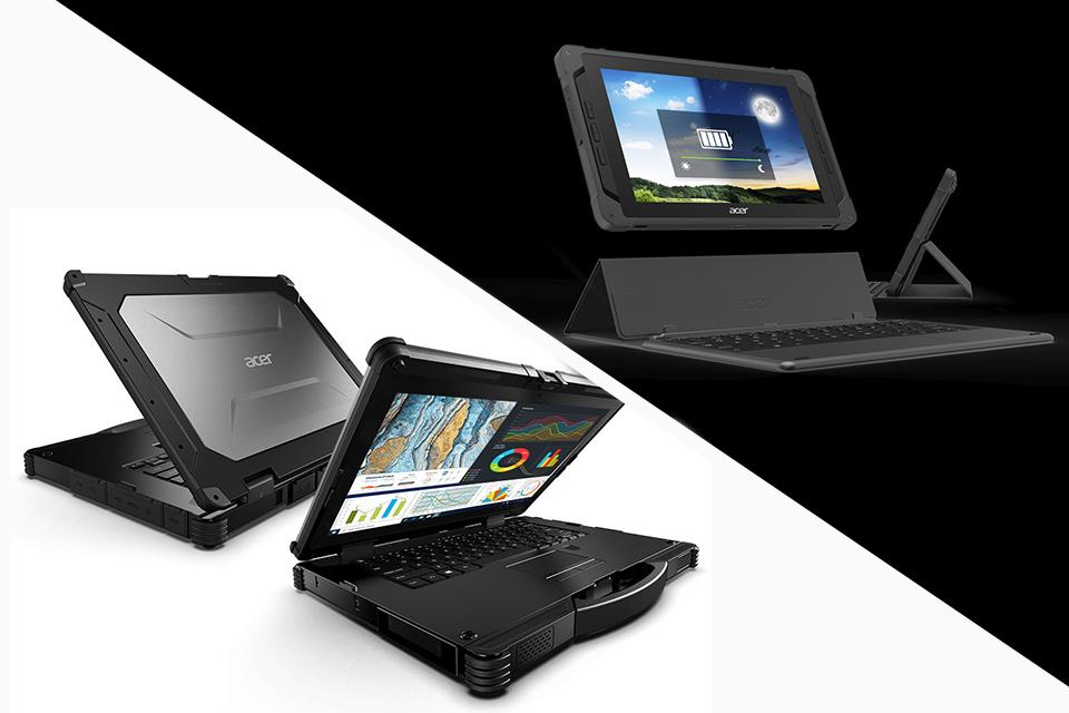 Acer lança linha Enduro de notebooks e tablets super-resistentes