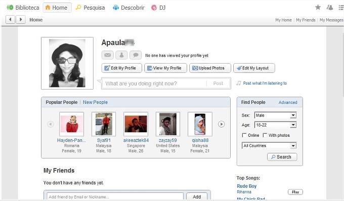 Criando e editando seu perfil