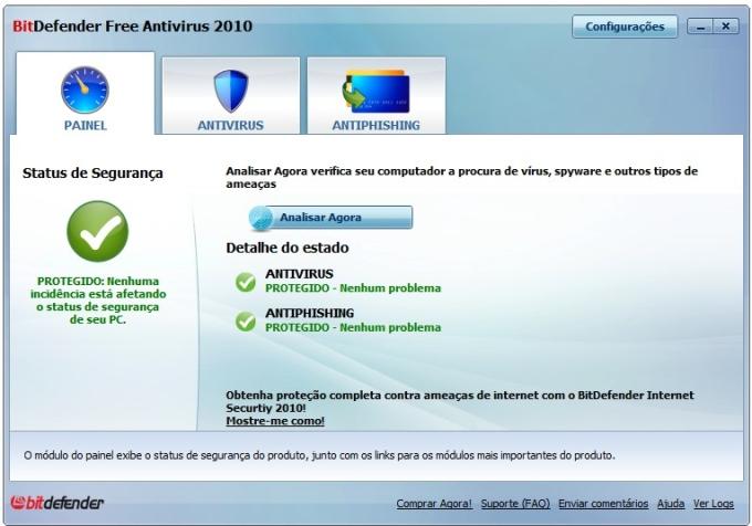 Proteção contra vírus e sites de phishing
