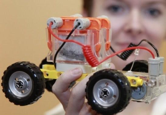 O carrinho com combustível ecológico