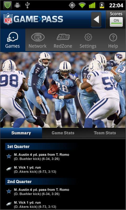 NFL Game Pass Mobile - Imagem 1 do software