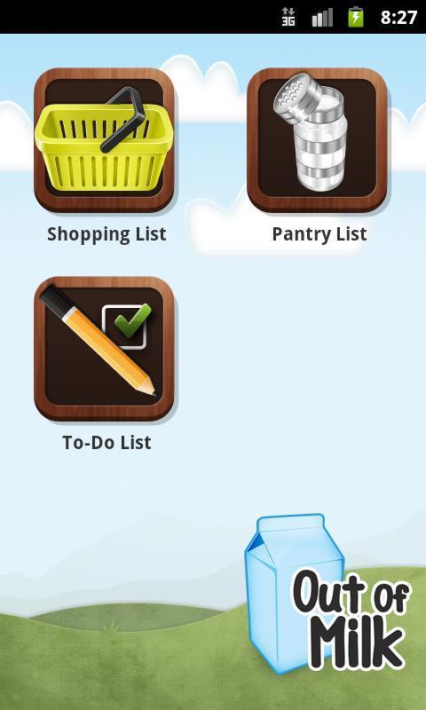 Out of Milk Shopping List - Imagem 1 do software
