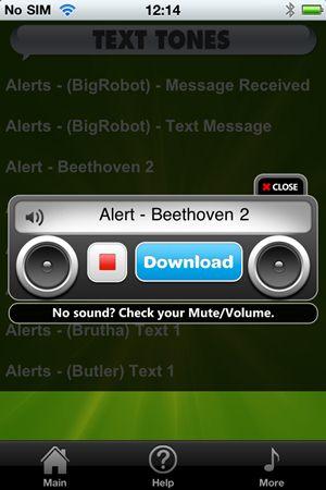 Free Text Tones - Imagem 2 do software