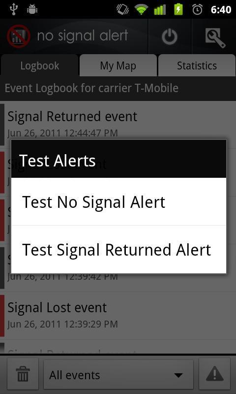 No Signal Alert - Imagem 2 do software