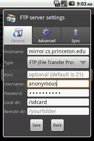 AndFTP - Imagem 2 do software