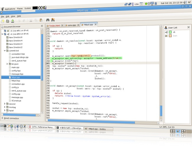Gobby - Imagem 1 do software