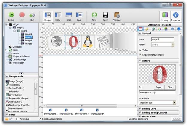 Editor de widgets