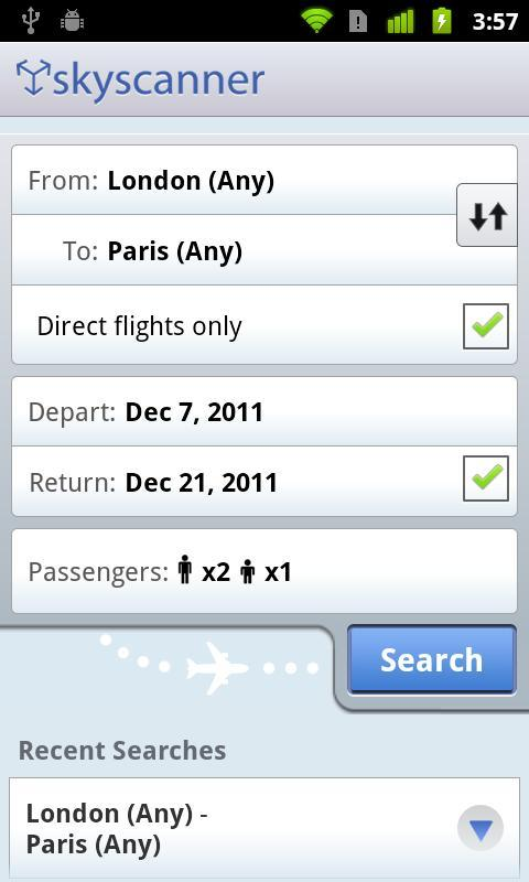 Skyscanner - Imagem 1 do software