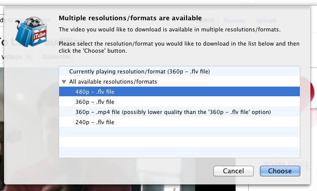 É possível fazer o download em vários formatos