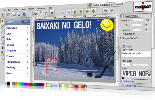 Edite suas imagens com facilidade!