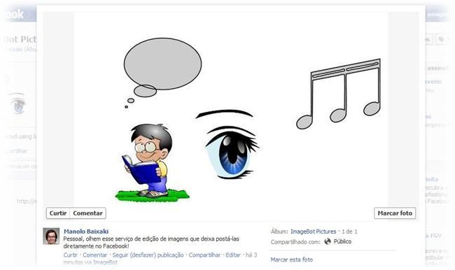 Direto para o Facebook.