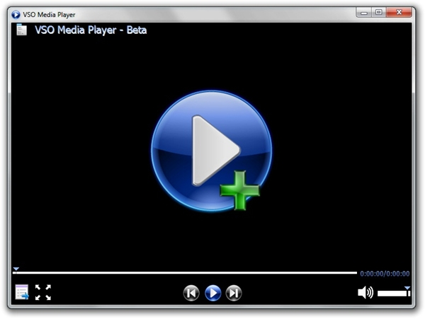 Janela principal do VSO Media Player
