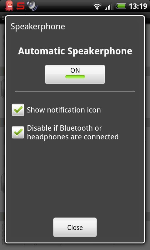 Auto Speakerphone - Imagem 1 do software