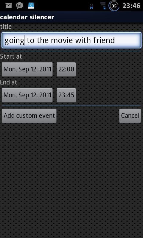 Calendar Silencer - Imagem 2 do software