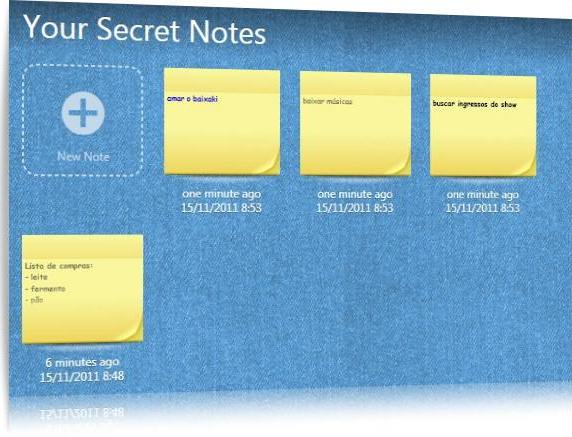 Secret Notes - Imagem 1 do software