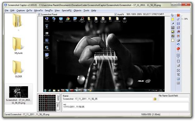 Interface com imagem: recursos de edição