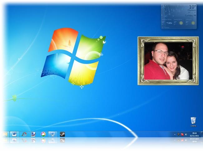 Personalize o seu desktop.