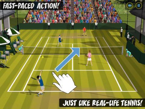 Flick Tennis: College Wars HD Free - Imagem 2 do software
