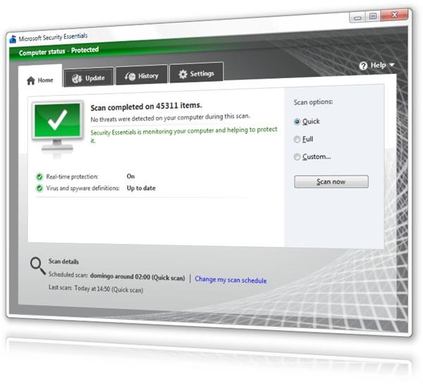 Microsoft Security Essentials 4.