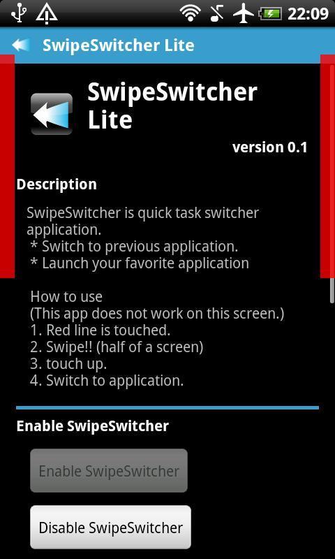 SwipeSwitcher Lite - Imagem 1 do software