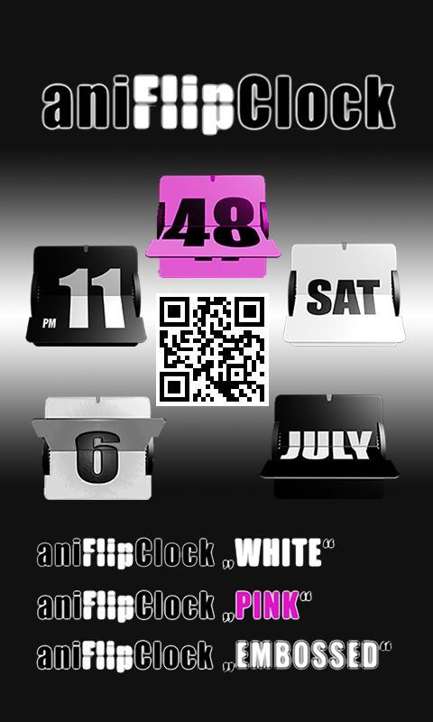 aniFlipClock Tema Branco - Imagem 2 do software