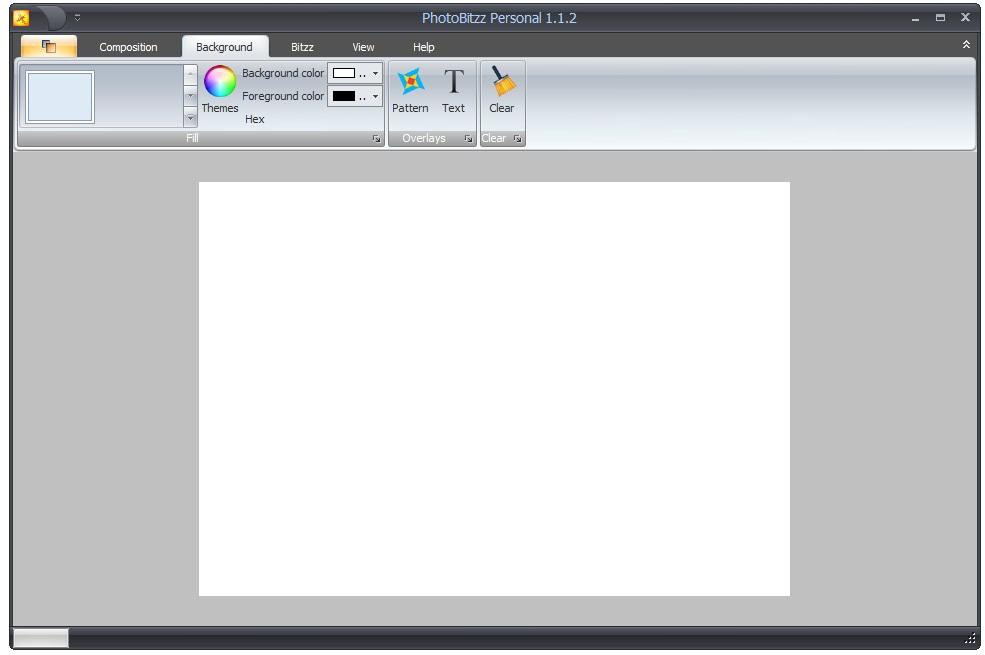 A interface básica do PhotoBitzz