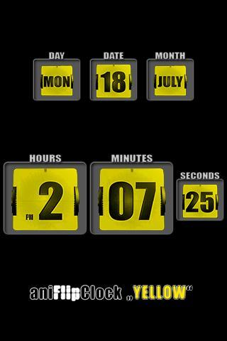 aniFlipClock Yellow Theme - Imagem 1 do software