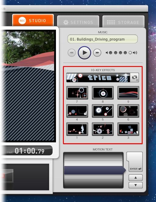 Use o teclado para colocar os efeitos no vídeo