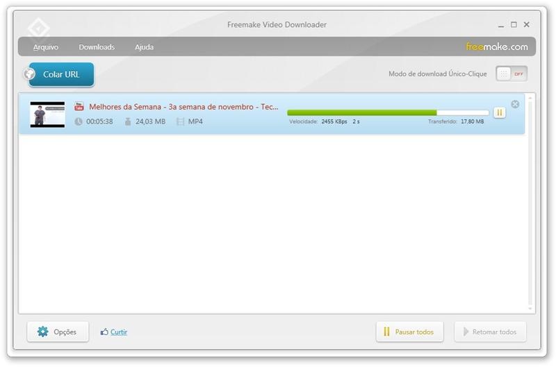 freemake video downloader baixaki
