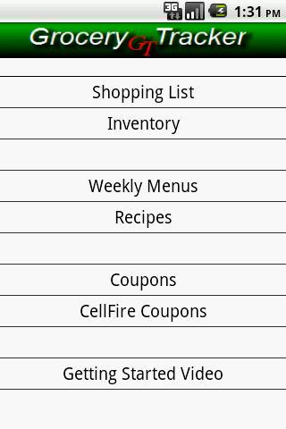 Grocery Tracker Shopping List - Imagem 1 do software