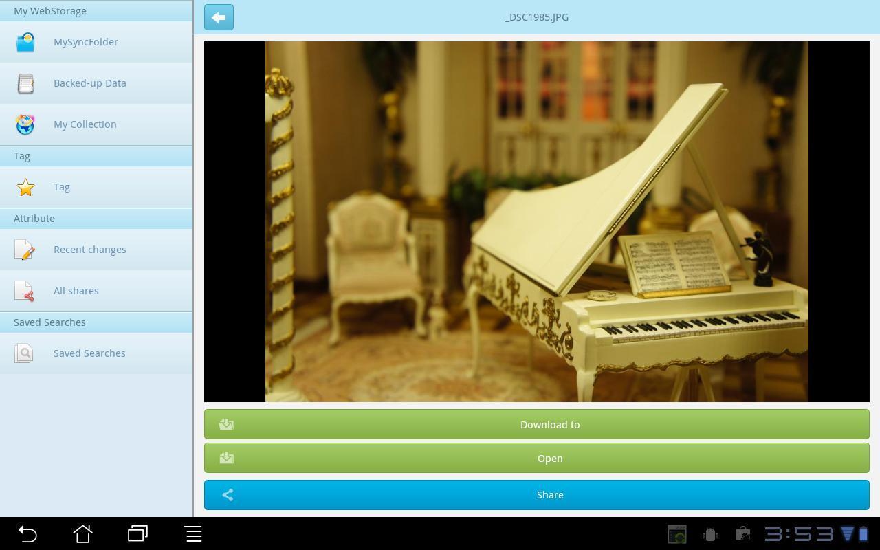 ASUS WebStorage - Imagem 1 do software