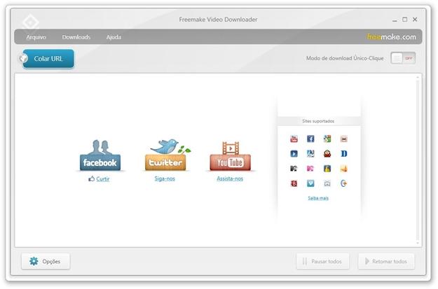 Freemake Video Downloader.