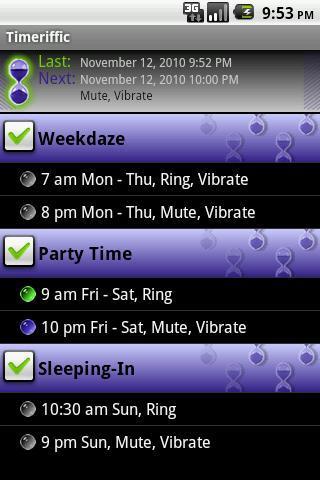 Timeriffic - Imagem 1 do software