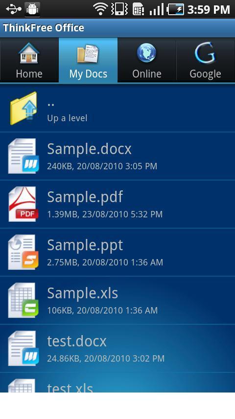 ThinkFree Office Mobile - Imagem 1 do software