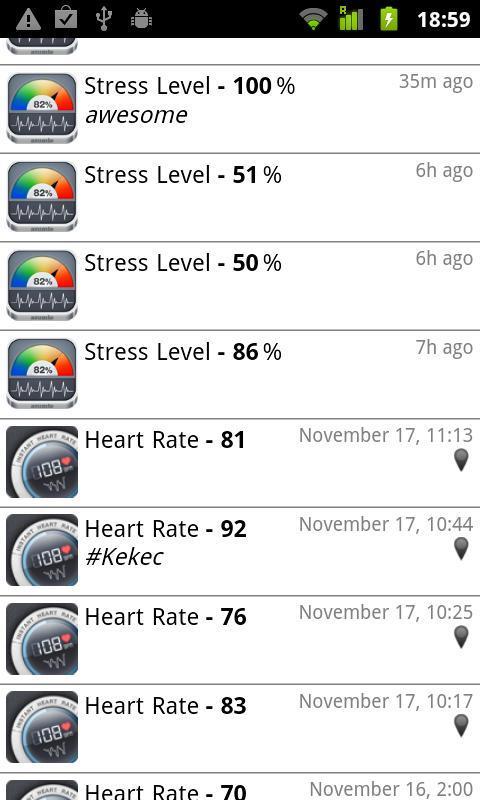 Stress Check by Azumio - Imagem 1 do software