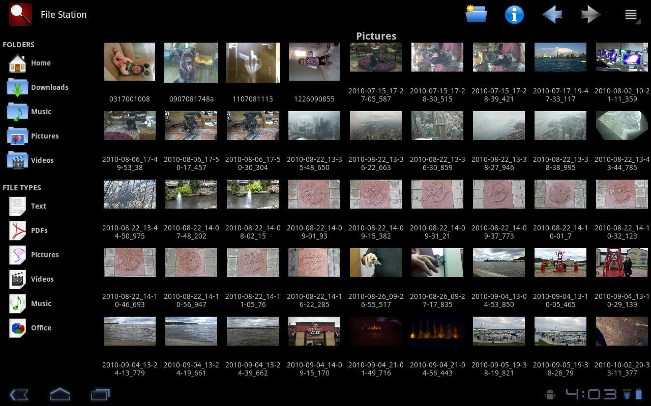 File Station Tablet - Imagem 1 do software