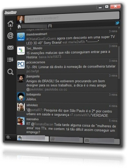 Tweet sem precisar acessar a página do microblog.