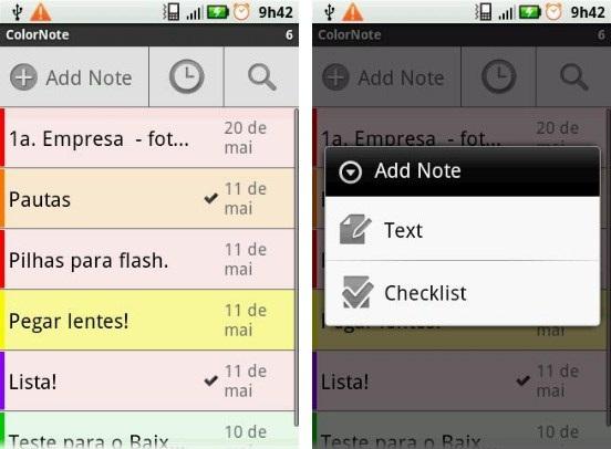 Anotações e checklist rápidos e elegantes
