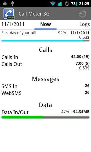 Call Meter 3G - Imagem 1 do software