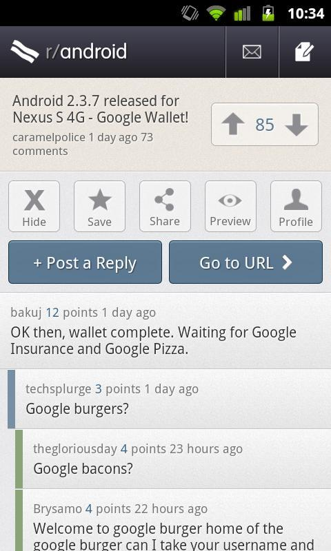 BaconReader for Reddit - Imagem 2 do software