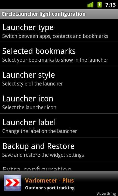 CircleLauncher light - Imagem 4 do software