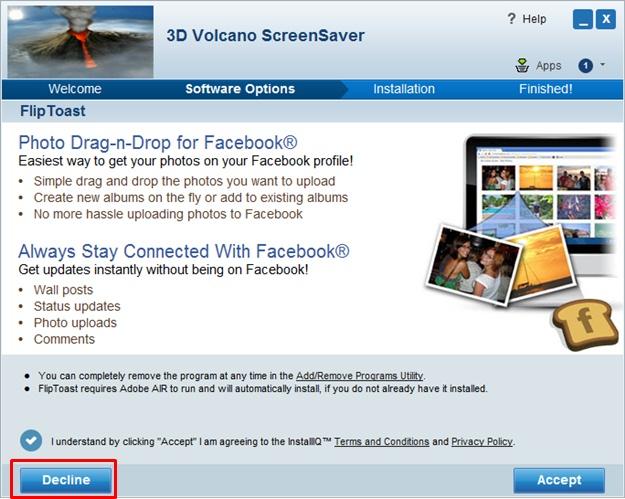 3D Volcano - Imagem 2 do software
