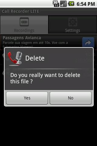 Call Recorder LITE - Imagem 4 do software