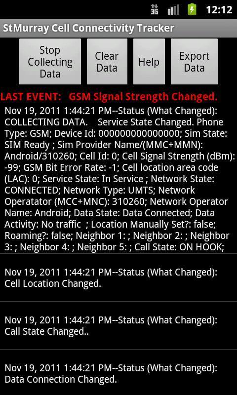 Cell Connectivity Tracker - Imagem 1 do software